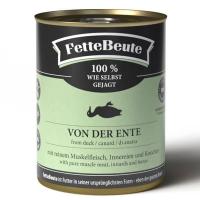 FetteBeute Nassfutter BARF Frischfleisch fuer Hunde mit Entenfleisch