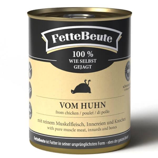 FetteBeute Nassfutter BARF Frischfleisch für Hunde mit Hühnerfleisch