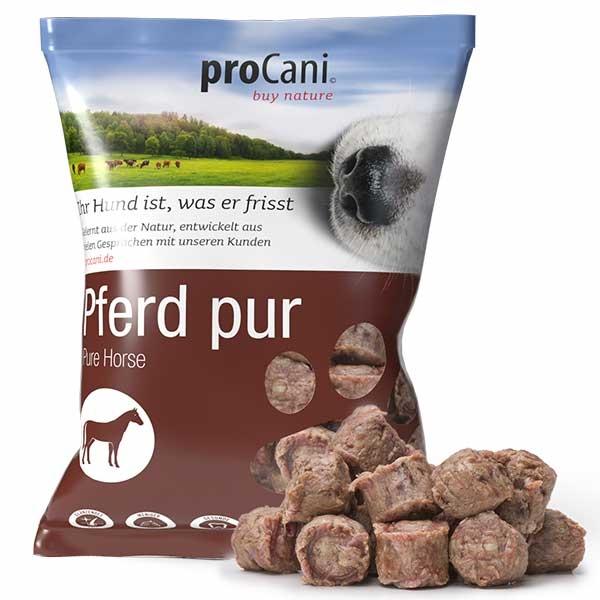 proCani buy nature BARF Frostfleisch Nuggets für Hunde - Pferd pur