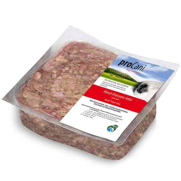 proCani buy nature BARF Frostfleisch fuer Hunde - Rind-Pansen-Mix Frischfutter