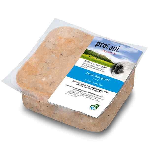 proCani buy nature BARF Frostfleisch fuer Hunde - Lachskomplett pur Fisch Frischfutter