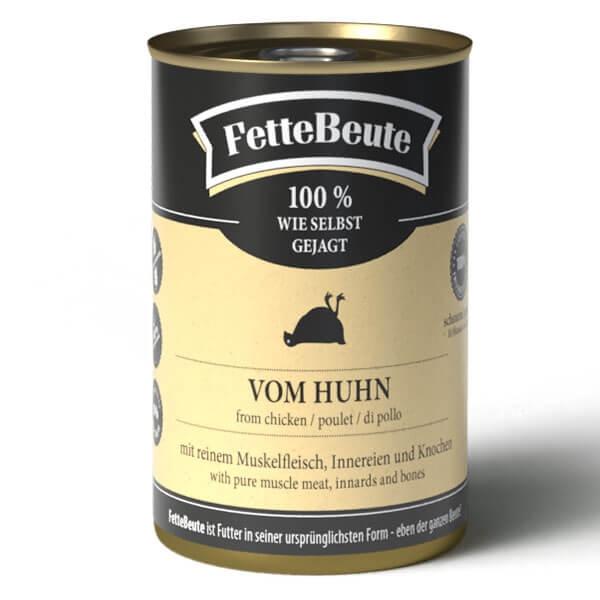 FetteBeute BARF Nassfutter vom Huhn - 400g Dose