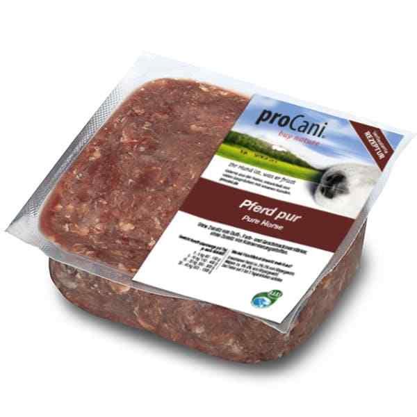 proCani buy nature BARF Frostfleisch fuer Hunde - Pferd pur Frischfutter