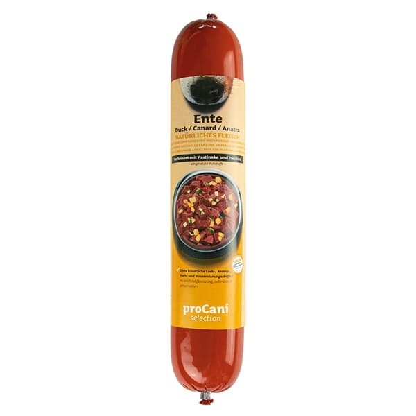 proCani selection BARF-Kochwürste mit Entenfleisch und Pastinake - 400g