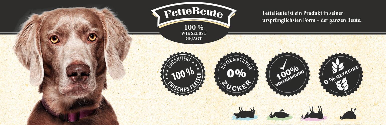 FetteBeute Nassfutter für Hunde in Premium-Qualität
