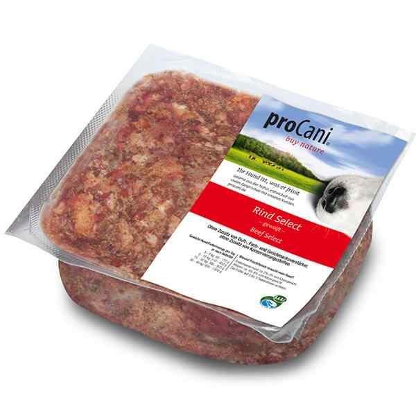 proCani buy nature BARF Frostfleisch fuer Hunde - Rind Select Frischfutter
