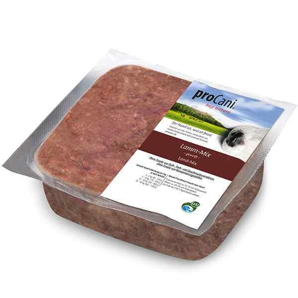 proCani buy nature BARF Frostfleisch fuer Hunde - Lammfleisch Mix Frischfutter