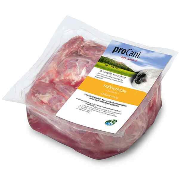 proCani buy nature BARF Frostfleisch fuer Hunde - Gefluegel Huehnerhaelse Frischfutter