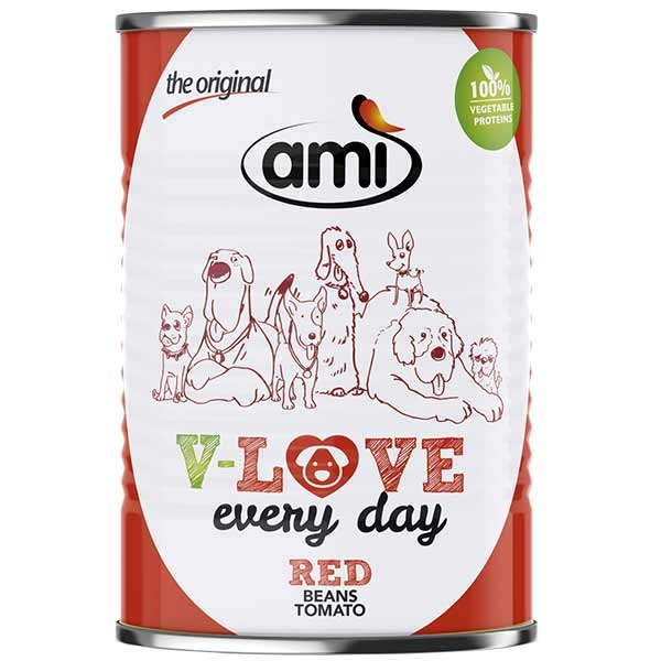 Ami V-LOVE every day RED Bohne Tomate, 400g
