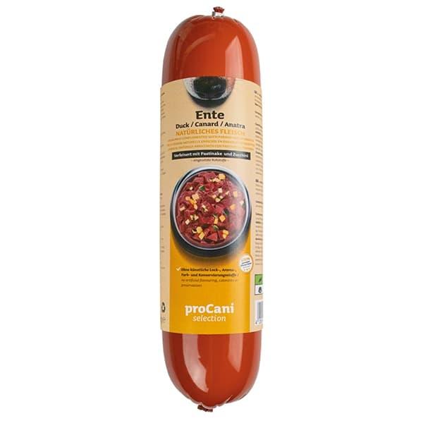 proCani selection Kochwürste für Hunde - Enten Menü 10x800g