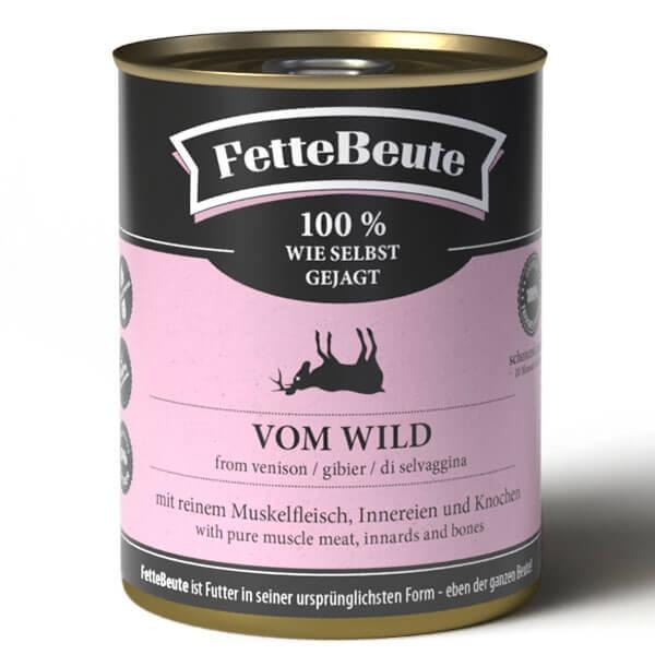 FetteBeute Nassfutter BARF Frischfleisch für Hunde mit Wildfleisch