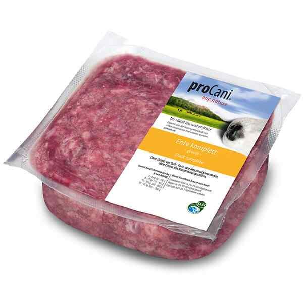 proCani buy nature BARF Frostfleisch fuer Hunde - Entenkomplett Frischfutter