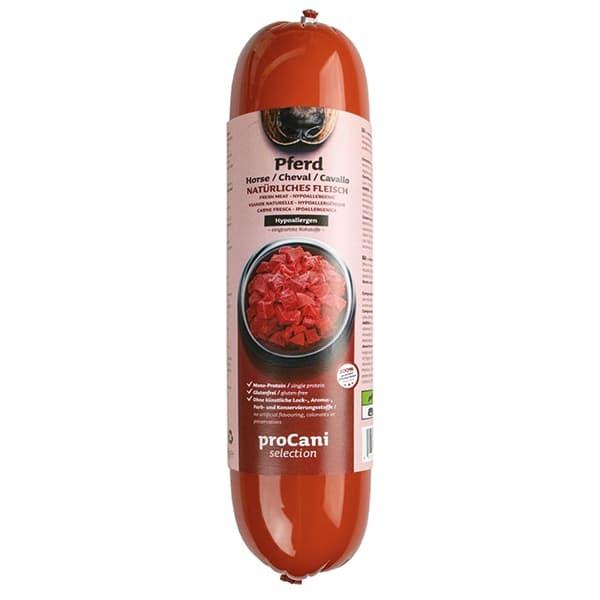 proCani selection Kochwürste für Hunde - Pferd Menü 10x800g