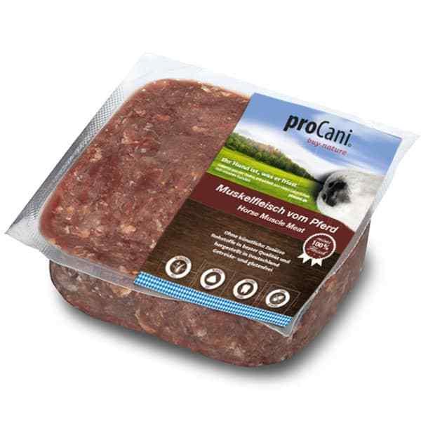 proCani buy nature BARF Frostfleisch fuer Hunde - Pferd 100% Muskelfleisch pur Frischfutter