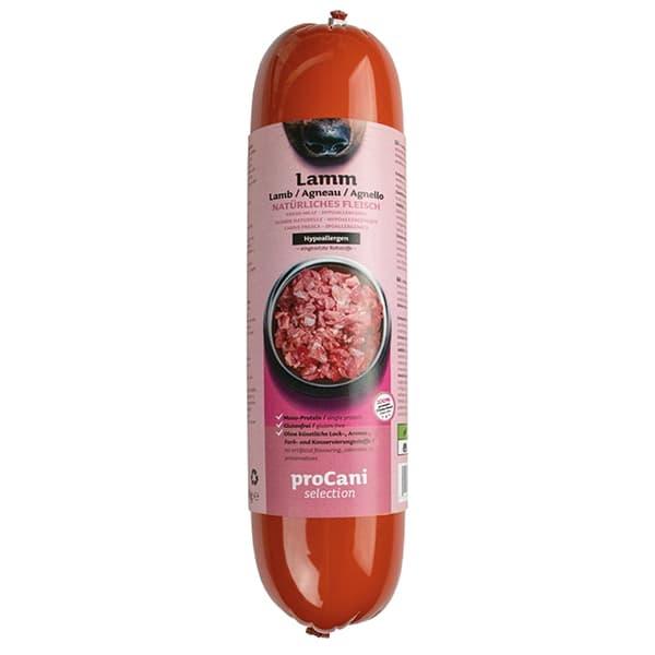 proCani selection Kochwürste für Hunde - Lamm Menü 10x800g
