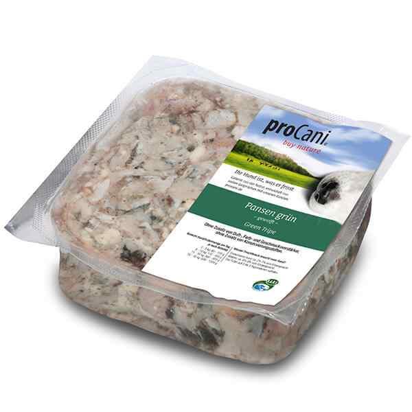 proCani buy nature BARF Frostfleisch fuer Hunde - Pansen gruen vom Rind Frischfutter