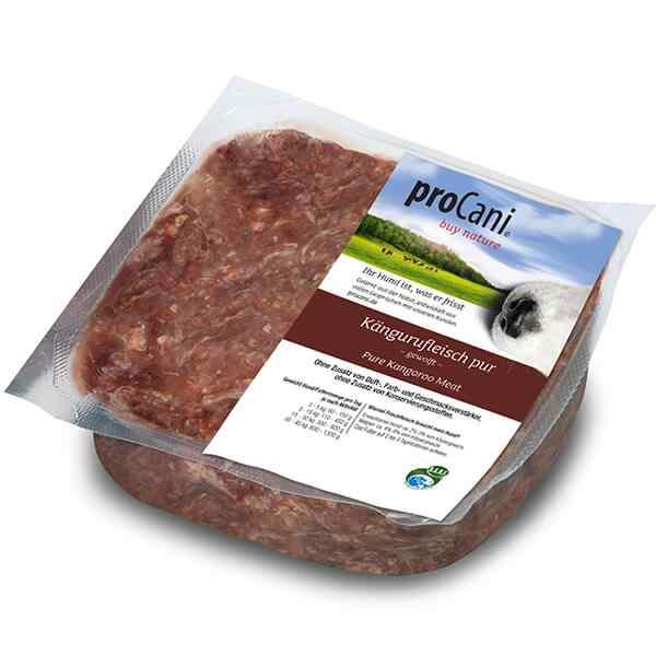 proCani buy nature BARF Frostfleisch fuer Hunde - Kaengurufleisch pur Exoten Frischfutter