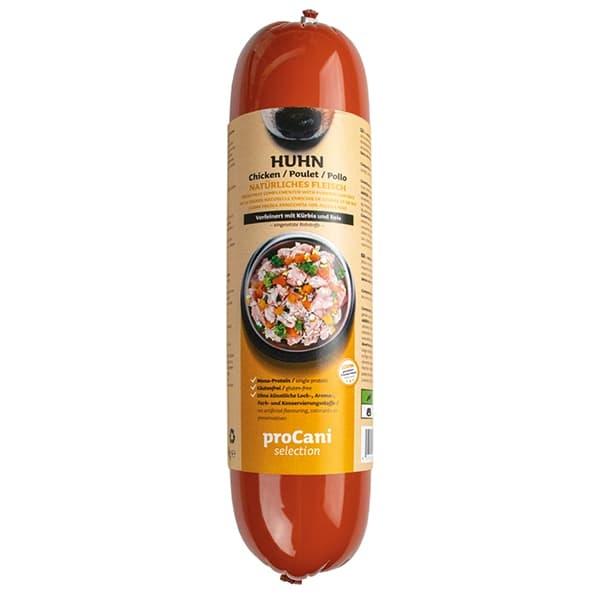 proCani selection Kochwürste für Hunde - Huhn Menü 800g